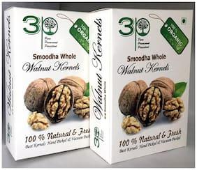 3P BROWN BROKEN KASHMIRI AKHROT WALNUT KERNELS DRY FRUITS 500g (Pack of 2@250g each)(FOR BAKERY PURPOSE)
