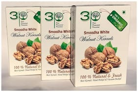3P REGULAR HALF KASHMIRI WALNUT KERNELS DRY FRUITS 750g (Pack of 3@250g each)