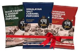 4700BC Gourmet Popcorn 3 Flavours Combo Pack (2 Cheese 1 Caramel)