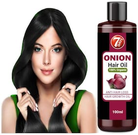 7 DAYS Red Onion Hair Oil, With 50 ML Oils & Extracts, Argan Oil, Castor, Bhringraj, Almond Oil (No Mineral Oil) | Help to growth hair