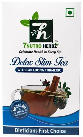 7 NUTROHERBZ DETOX SLIM TEA WITH LAKADONG TURMERIC-Helps Improve Digestion and Immune System 100 g (Pack of 1)