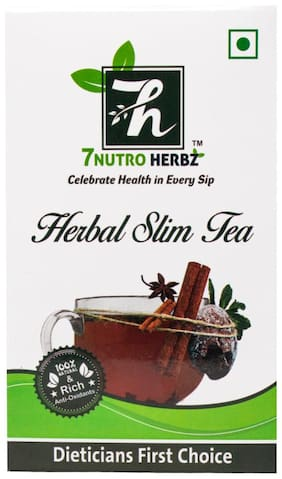 7 NUTROHERBZ HERBAL SLIM TEA -Helps Improve Digestion and Immune System 120 g (Pack of 1)