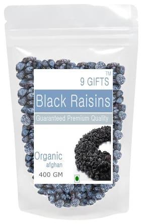9 GIFTS Afghanistan Black Raisin 400 Gm