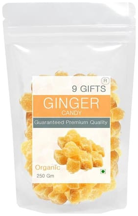 9 GIFTS Ginger candy 250 GM
