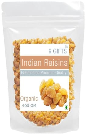 9 GIFTS Kishmish  Raisins Sultana Thompson Seedless 400 Gm