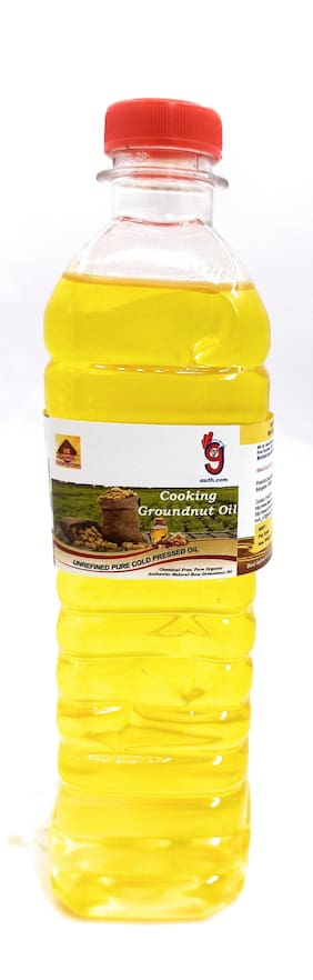 99Auth Groundnut Oil. Pure Natural RAW Cold Pressed Cooking Oil 500 ml