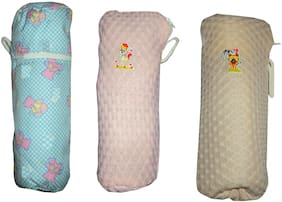 A & H Enterprises New Born Baby Feeding Bottle Cover Combo Of 3 Pcs Cover Multicolor ( 22X10 Cm )