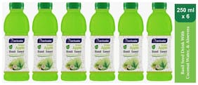 Aactuala Green Apple Basil Seed Drink 250ml (Pack Of 6 )