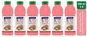 Aactuala Litchi Basil Seed Drink 250ml (Pack Of 6 )