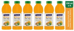 Aactuala Mango Basil Seed Drink 250ml (Pack Of 6
