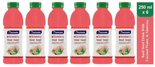 Aactuala Strawberry Basil Seed Drink 250ml (Pack Of 6 )