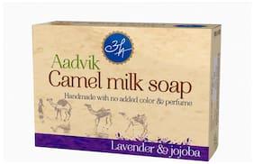 Aadvik Camel Milk Soap | Lavender And Jojoba Essential Oils | 100g