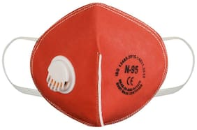 Aahana Anti Pollution Activate N95 Mask-Red (Pack of 1)
