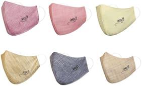 Aahana Khadi Mask, Whashable Cotton Designer Masks, Reusable Pollution Mask