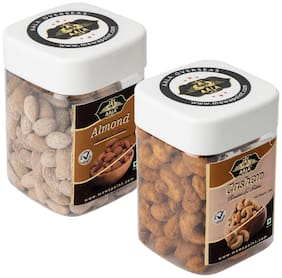 Aala Dry Fruits Premium Quality Combo Of Roasted Salted Almonds 250 g & Roasted Salted Cashews 250 g