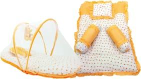 Aayat Kids Set of 6 Pc Premium Heart Printed Multi Bedding Set Model A19