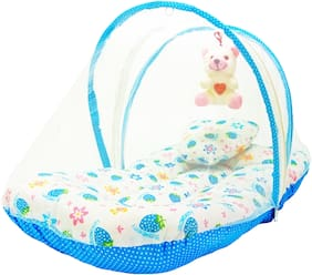 Aayat Kids Skin Friendly Well Cushioned Strawberry Printed Multi Luxury 0 to 3 months Baby mosquito Net Bed Model A19