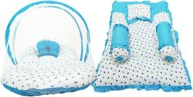 Aayat Kids Set of 6 pc Premium Heart Printed Multi Bedding Set Model A11