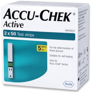 Accu-Chek Active 50 Test Strips - Pack of 2