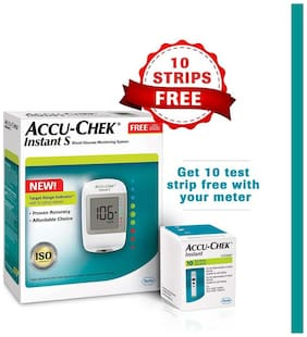 Accu-Chek Instant S Blood Glucometer Kit/Sugar Monitor/Glucose Monitor/Sugar Machine/Sugar Test Machine/Glucose/Gluco meter