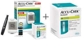 Accu-Chek Instant S Glucometer (With Free 10 Strips) + Accu-Chek Instant S 50 Strips