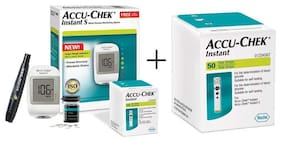 Accu-Chek Instant S Meter (With Free 10 Strips) + Accu-Chek Instant S 50 Strips
