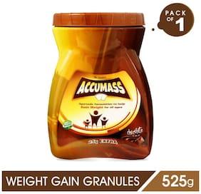 Accumass Weight Gain Powder 525gm, Chocolate Flavor, Pack of 1