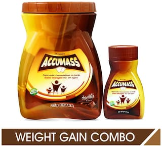 Accumass Weight Gainer Combo Pack (Powder + Capsules)