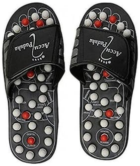 Accupressure Accu Yoga Paduka Slippers both for Men & Women in Free Size with Whole Body Relaxaton  (1Pc) Multi Color