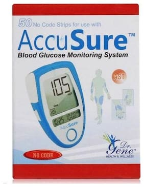Accusure Test Strips50 Strips Multicolor(Only Strips)