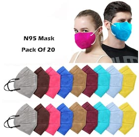 Ace N King  5 Layers N95 Anti-Pollution Anti-Dust Face Mask - Pack Of 20