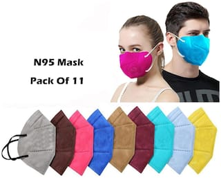 Ace N King  5 Layers N95 Anti-Pollution Anti-Dust Face Mask - Pack Of 11