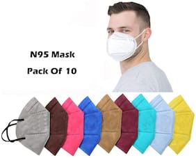 Ace N King  5 Layers N95 Anti-Pollution Anti-Dust Face Mask - Pack Of 10