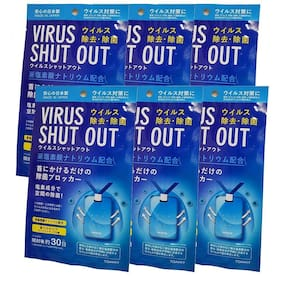 ACE N KING Virus Shut Out Air Sterilization Card Neck Type (1 Month Use) (Pack of 6)