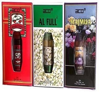 aco PERFUMES aco JANNATUL FIRDOUS  ALFULL  MAJMUA  8ML attar roll on pack of 3 Floral Attar (Jannat ul Firdaus)