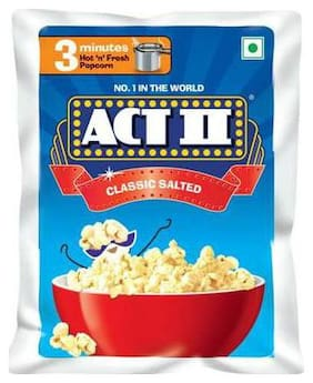 ACT II Instant Popcorn - Classic Salted 30 + 10 g Free
