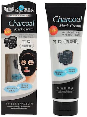 Activated Charcoal Carbon Peel Off Diy Purifying Black Mask For Blackhead Whitehead (130 ml)
