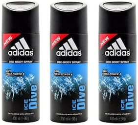 Adidas Pack of 3 Deodrants(Ice Dive)(96g each)