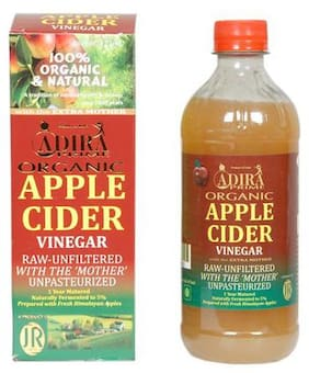 ADIRA Prime Organic Apple Cider Vinegar - Raw Unfiltered with EXTRA Mother 473 ml