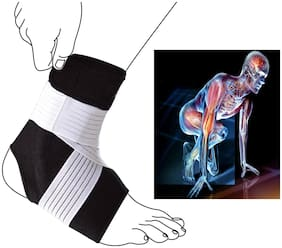 Adjustable Core Advanced Ankle Support Pad Brace Cap Sleeve Socks Wrap Straps Band Bandage Suitable for Running Gym for Pain Relief for Unisex