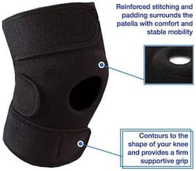Adjustable Knee Cap Knee Support Knee Support (Free Size  Black)