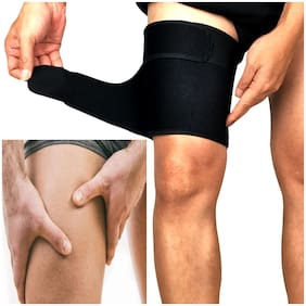 Adjustable Thigh Knee Calf Guard Muscle Strain Fitness Compression Thigh Wrap Pain  Muscle Pull Strain Relief  Gym  Sports Exercise  Running  Injuries Lower Pain Shin Splint Support PACK OF 1