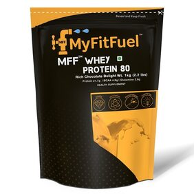 MyFitFuel Advance MFF Whey Protein 80 (Rich Chocolate Delight 1 kg (2.2 lb))
