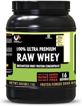 Advance MuscleMass Raw Whey Protein Concentrate |24.2 g protein| Lab tested| Raw Whey from USA| Unflavoured 500g (1.1 lb)