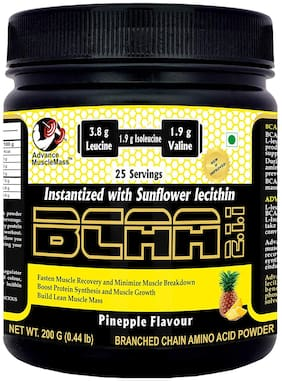 Advance MuscleMass BCAA 200 GM