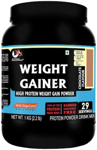 Advance MuscleMass Weight Gainer with digestive enzymes(Chocolate;1 kg)