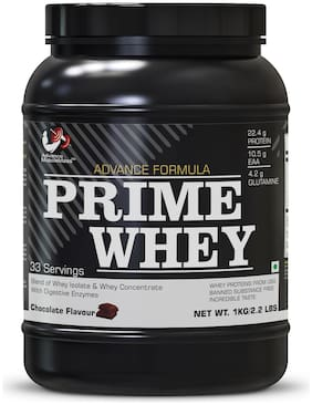 Advance MuscleMass Prime Whey Protein ( 22.4 g Protein , 10.9 g EAA , 4.2 g Glutamine) Chocolate 1kg / 2.2 lbs