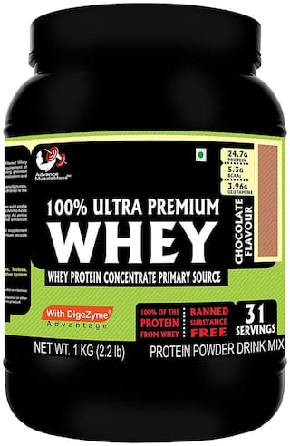 Advance MuscleMass Whey Protein with digestive enzymes(Chocolate;1 kg)
