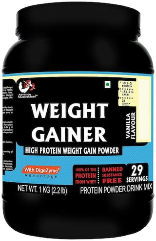 Advance MuscleMass Weight Gainer with digestive enzymes(Vanilla;1 kg)