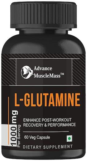 Advance MuscleMass L-Glutamine Capsule   1000 mg Per serving   Vegan Source   60 count